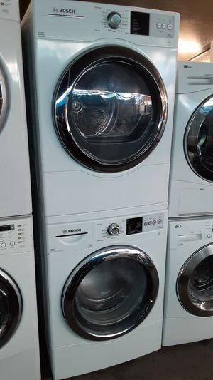 $599 Bosch washer dryer set includes delivery in the San Fernando Valley a warranty and installation for Sale in Los Angeles, CA