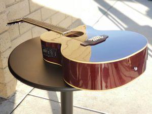 Guitarra 12 Cuerdas Pa Requintiar Nueva Electrónica Acustica con Bolsa y Accesorios Combo New 12 String Guitar for Sale in Mesa, AZ