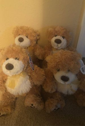 4 stuffed bears. Toys for Sale in Marengo, IL