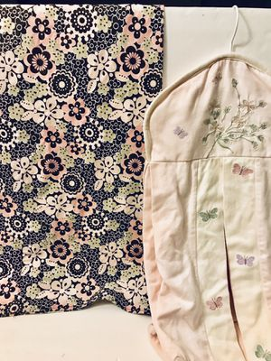 Set of Nursing Breastfeeding Cover (Eddie Bauer) and Diaper Stacker - Baby Girl for Sale in Grand Island, FL