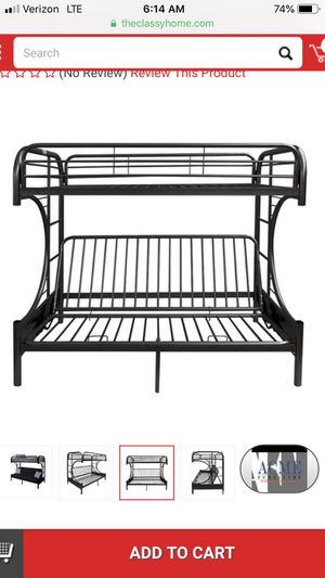 Bunk bed with full futon for Sale in El Cajon, CA
