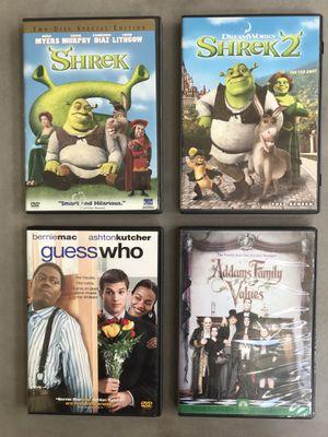 4 kids DVDs including Shrek and Shrek 2 for Sale in Potomac Falls, VA