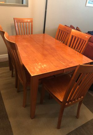 Wooden table and 6 chairs for Sale in Hayward, CA