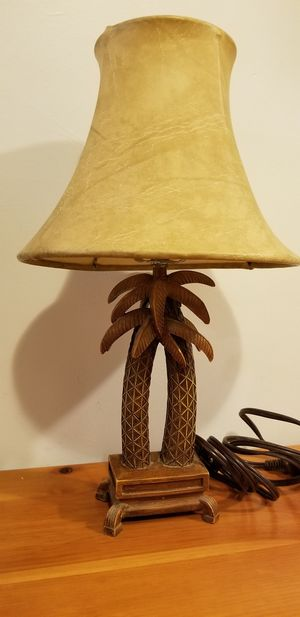 Palm Tree Lamp With Leather Shade for Sale in Billerica, MA