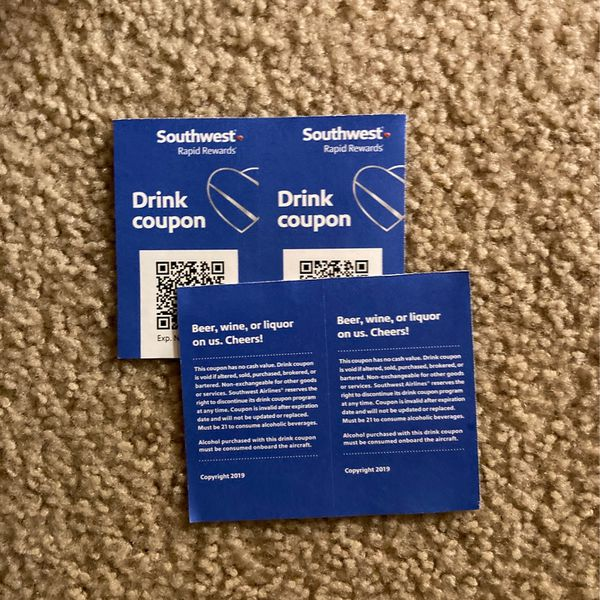 4 Southwest Drink Coupons Exp 11/30/20 (Free)