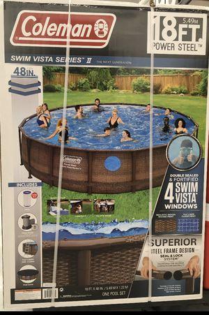 "Coleman 18' x 48"" Power Steel Swim Vista Series II Swimming Pool Set for Sale in Germantown, MD"