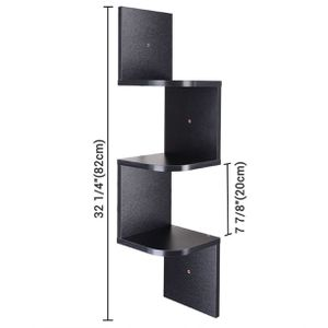 3 Tiers Wall Mounted Corner Shelf Wood Storage Organizer Holder with Gradienter for Sale in Ontario, CA