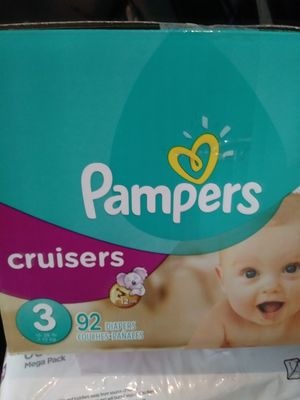 Pampers size 3 92ct $20 for Sale in Toms River, NJ