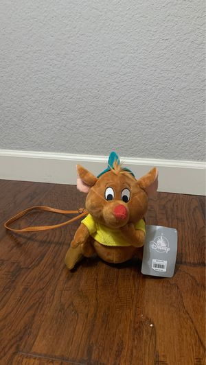 Brand new!!! Tag attached. Disney Cinderella Gus Mouse stuffed animal zipper purse for Sale in Irvine, CA