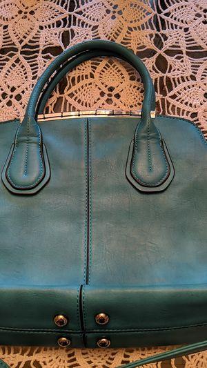 Teal leather shoulder bag for Sale in McKeesport, PA