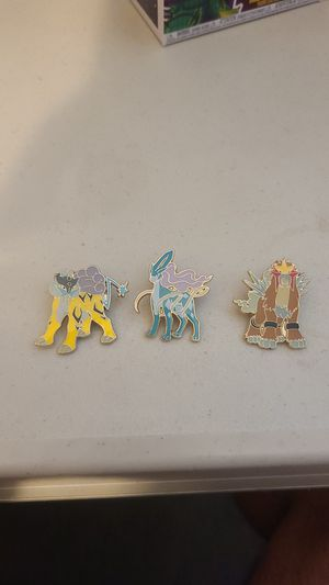 Pokemon Raikou Suicune Entries lot Pins for Sale in San Diego, CA