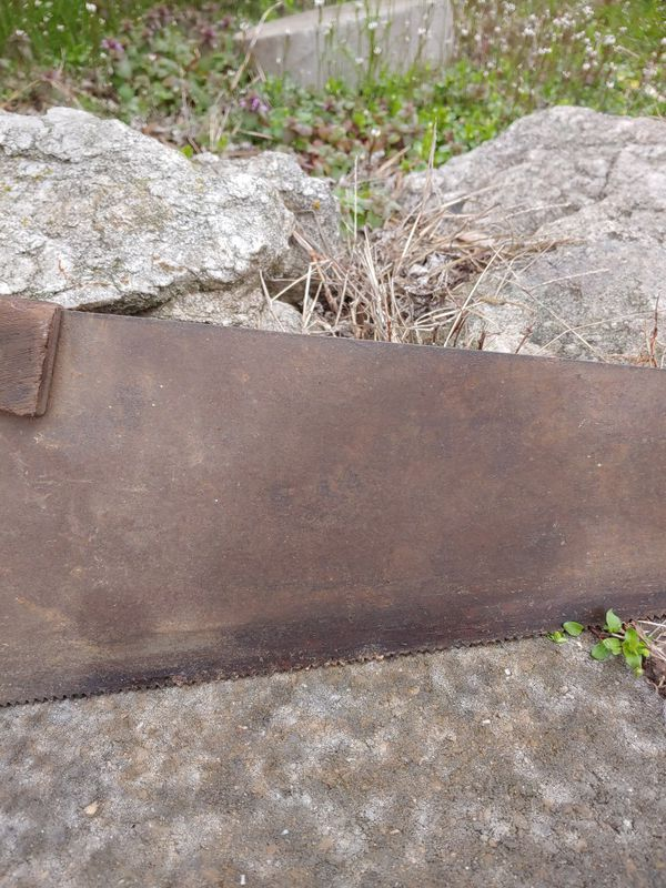 Warranted superior vintage hand saw