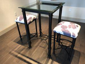Versatile High Glass Top Breakfast Table for Sale in Phoenix, AZ
