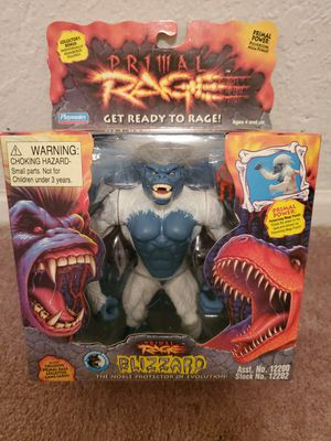 New in Box Near Mint/Mint Condition Rare 1994 Playmates Primal Rage Blizzard Action Figure. Must Pick Up. Shipping Available. for Sale in El Paso, TX