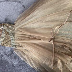 Beautiful Gold Wedding Reception dress/Prom Dress for Sale in Schaumburg, IL