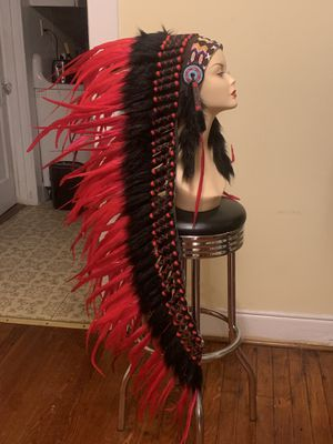 Beautiful long feathered headdress for Sale in Richmond, VA