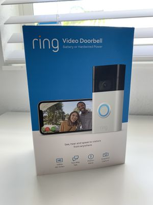 All-new Ring Video Doorbell – 1080p HD video, improved motion detection, easy installation – Satin Nickel (2nd Gen for Sale in Orlando, FL