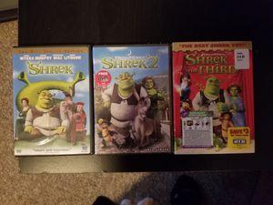 Shrek 1,2,&3 Dvds for Sale in Torrington, CT