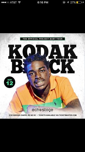 Kodak Black Live The official project baby tour for Sale in Washington, DC