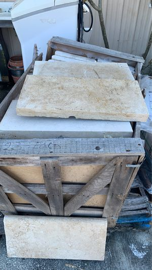 """12""""x24"""" Tumbled Travertine Pool Coping for Sale in Jan Phyl Village, FL"""