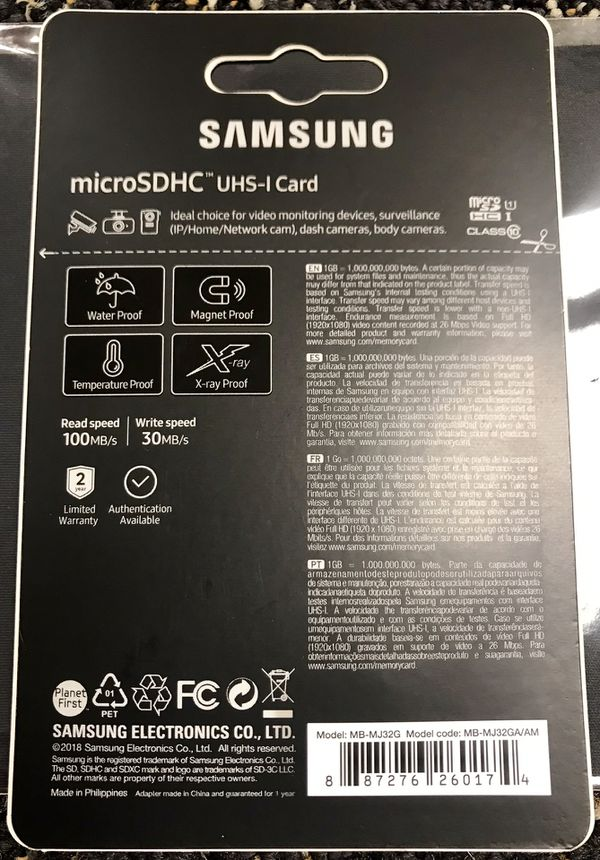 Samsung PRO Endurance 32GB Micro SDHC UHS-I Card with SD Adapter!