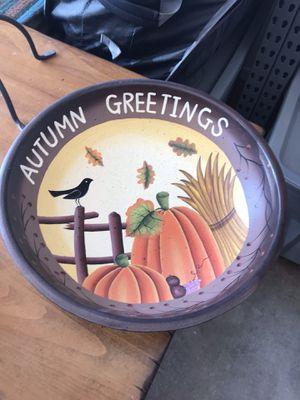 Autumn Fall Thanksgiving Decor Bowl Display - Wooden for Sale in Phoenix, AZ