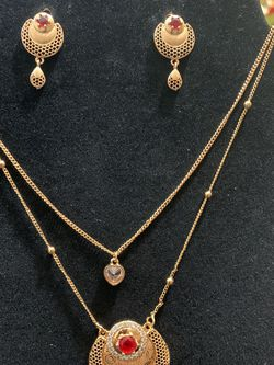 gold plated necklace set for Sale in Arlington,  VA