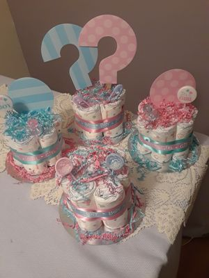 Gender reveal diaper cake for Sale in Fort Lauderdale, FL