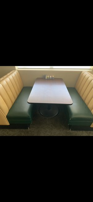 Restaurant tables/booth/chairs/dessert fridge for Sale in Palmdale, CA