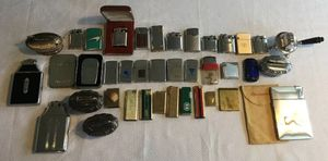 Vintage Cigarette Case Holder Lighter Lot Advertising Zippo Ronson Elgin American for Sale in Columbus, OH