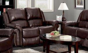 GT Brown Reclinjahing Loveseat | U9521 for Sale in Fairfax, VA