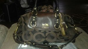 Authentic Coach Brown Madison sabrina convertable purse for Sale in Cleveland, OH