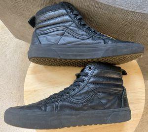 Gently worn Black Men's Leather Vans SK8-Hi size 10 for Sale in Bothell, WA