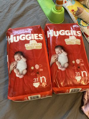 Newborn diapers for Sale in Rancho Cucamonga, CA