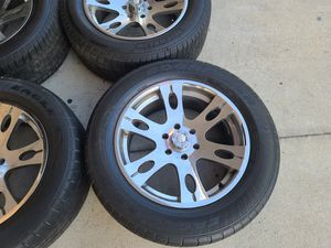 "Wheels and tires 275/55r20"" 6 lug Chevy Tahoe Yukon suburban Silverado escalade avalanche gmc 6x5,5 or yx139,7 for Sale in Riverside, CA"