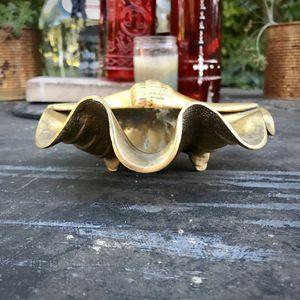 Vintage Solid Brass Sea Shell Ashtray for Sale in Miami, FL