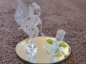 Glass fairy on mirror for Sale in Albuquerque, NM