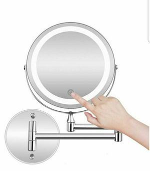 Wall Mounted,Double Sided 5X Magnifying Shaving Mirror LED for Sale in Arlington, TX