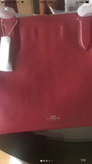 Authentic COACH Derby Tote in True Red for Sale in Chicago Ridge, IL