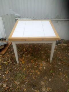 Homemade kitchen table, ceramic tile top. for Sale in Wichita, KS