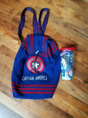Captain America backpack and tumbler for Sale in Snohomish, WA