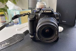 Canon Rebel XTI Eos dslr 18-55 af/me lens filters charger battery grip and 2.0 GB card for Sale in Portland, OR