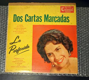 "Ramona Ponce, La Preferida: Dos Cartas Marcadas (12"") LP Mono Mexico Colonial for Sale in Huntington Beach, CA"