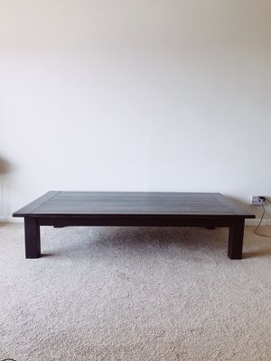 Long Dark Stained Wood Coffee Table or Japanese Style Dining Table for Sale in Phoenix, AZ