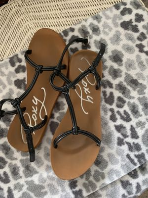 Roxy black sandals in top notch condition for Sale in Norfolk, VA
