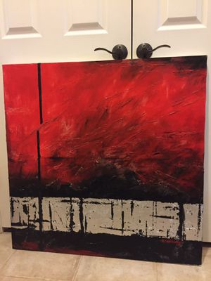 "Acrylic canvas painting 35"" * 35"" for Sale in Pleasanton, CA"