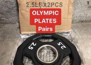 NEW IN BOX Olympic Rubber Plates | 2.5s | PAIRS for Sale in Fremont, CA