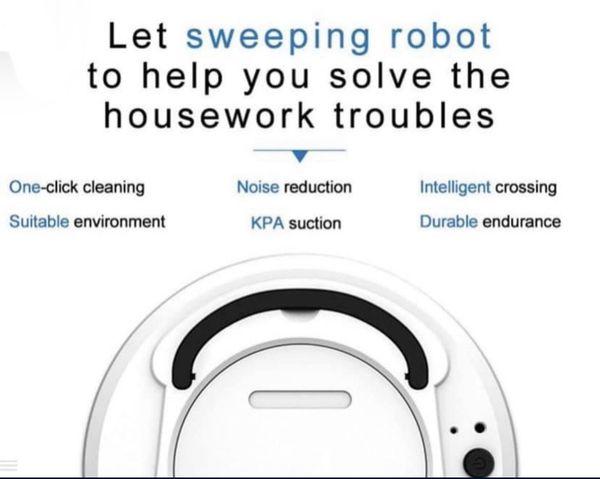 Multifunctional Smart Floor Cleaner 3-in-1 Auto Rechargeable Smart Sweeping Robot Dry Wet Sweeping Vacuum Cleaner.