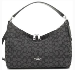 Coach Black Outline Signature Hobo Bag for Sale in South Amboy, NJ