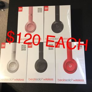 Beats solo 3 wireless headphones new for Sale in Plano, TX